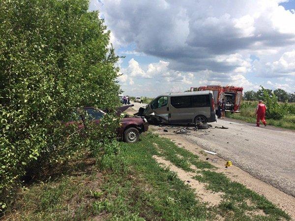 Поблизу Новоандріївки зіткнулися легковик та мікроавтобус, загинула жінка (ФОТО)
